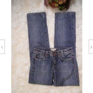 Vigoss Stretch Straight Leg Jeans Distressed Zip